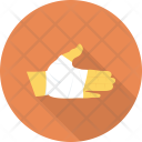 Bandage Hand Injury Icon