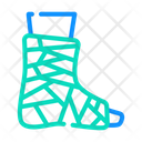 Bandaged Ankle Color Icon
