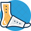 Bandaged Foot Icon