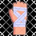Fractured Hand Bandaged Hand Injured Hand Icon