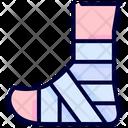 Bandaged leg Icon
