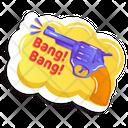 Bang Bang Gun Gunshot Icon