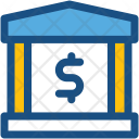 Bank Building Insurance Icon