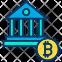 Bitcoin Bag Bitcoin Bank Financial Building Icon