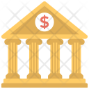 Commercial Building Bank Icon