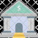 Bank Bank Building Stock Market Icon