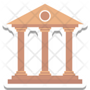 Bank Building Courthouse Icon