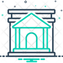 Bank Building Investment Icon