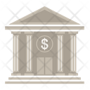 Bank Building Business Icon