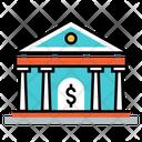 Bank Building Debit Icon