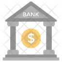 Financial Institution Bank Bank Building Icon