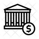 Financial Building Dollar Icon
