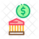 Cash Building Bank Icon