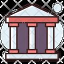 Bank Court Architecture Icon