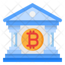 Bitcoin Cryptocurrency Building Icon