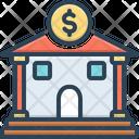 Bank Money Dealing Money Lending Icon