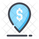 Pin Location Bank Icon
