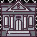 Bank Buildings Culture Icon