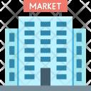 Bank Building Market Icon