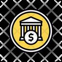 Financial Building Bank Icon
