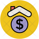 Bank House Dollar Icon