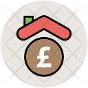 Bank House Pound Icon