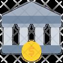 Bank Finance Coin Icon