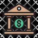 Bank Dollar Finance Icon