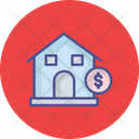 Bank Home Home With Dollar Icon