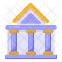 Bank Financial Institution Depository House Icon