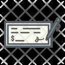 Bank Check Pen Icon