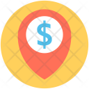 Bank Location Pin Icon