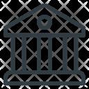 Bank Building Architecture Icon