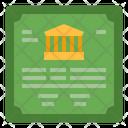 Bank Bond Icon