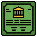Bank Bond Icon