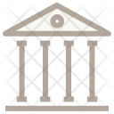 Bank Building Columns Icon