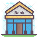 Bank Building Real Estate Bank Icon