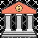 Bank Building Real Estate Bank Icon