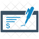 Bank Check Ecommerce Finance Icon