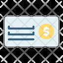 Bank Check Coin Money Icon