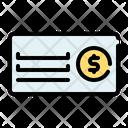 Bank Check Bank Coin Icon