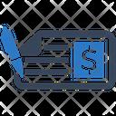 Bank Check Cheque Icon