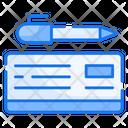 Bank Check Checkbook Banking Icon