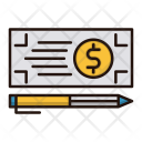 Bank Check Payment Icon