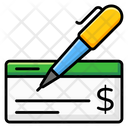 Bank Cheque Cheque Book Payment Cheque Icon