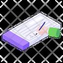 Bank Cheque Signature Chequebook Icon
