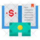 Book Bank Money Report Icon