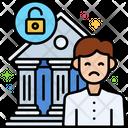 Bank Fraud Bank Fraud Bank Theft Icon