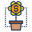 Grow Invest Money Icon