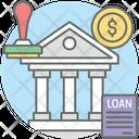 Bank Loan Borrowing Lending Icon